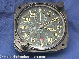 Restored Hamilton Elgin 37500 Aircraft Clock