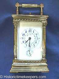 Restored French Repeatin Carriage Clock