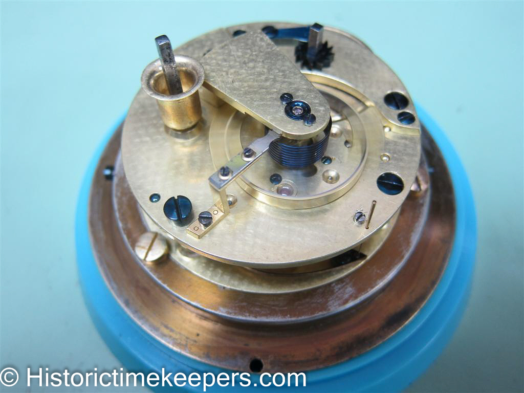 Restored Parkinson and Frodsham Chronometer ready for casing