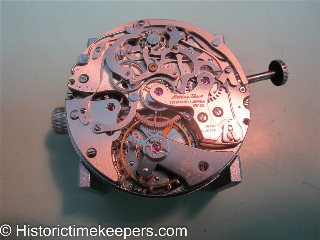 Restored Vintage Mathey Tissot Chronograph ready for casing