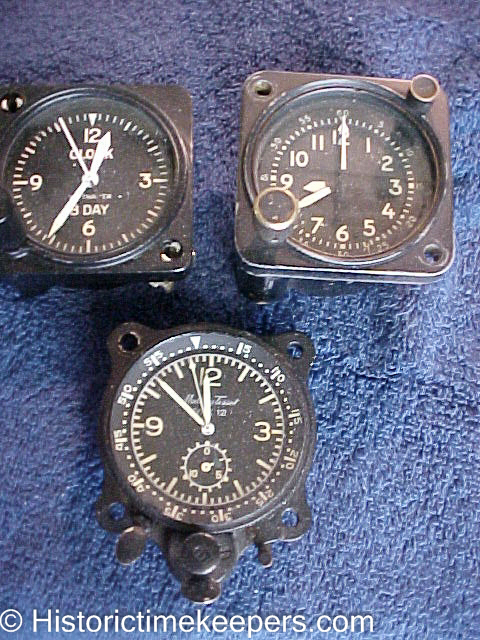 Mathey Tissot Type 12 Waltham a-13-a chronograph aircraft clock for sale